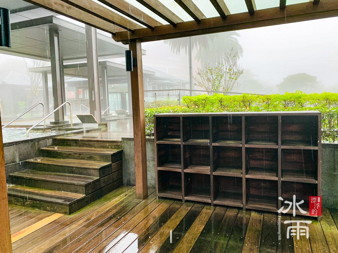 陽明山天籟溫泉會館|露天風呂置物櫃