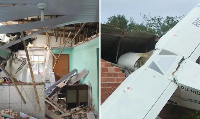 'Foi por Deus', diz homem após casa ser atingida por avião sem deixar vítima