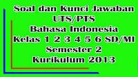 soal uts bahasa indonesia kelas 1 2 3 4 5 6 semester 2 kurikulum 2013