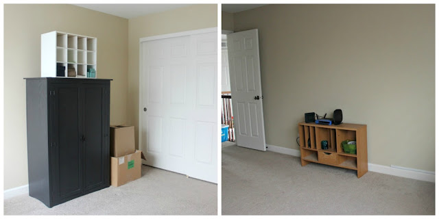 Before Pictures of Office and Craft Room Makeover