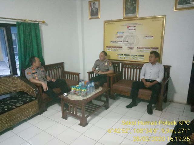 Polsek KPC Perdana Dikunjungi Kapolres Cirebon Kota AKBP Syamsul Huda, S.I.K, S.H, M.Si