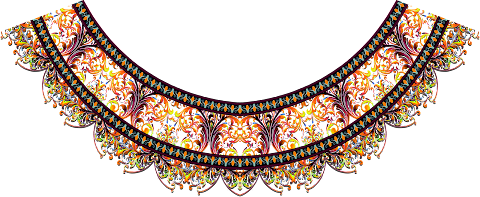 Vector-pattern-textile-kurti-neck-design-7024