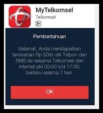 Gratis Senilai 50 Ribu Dari Telkomsel
