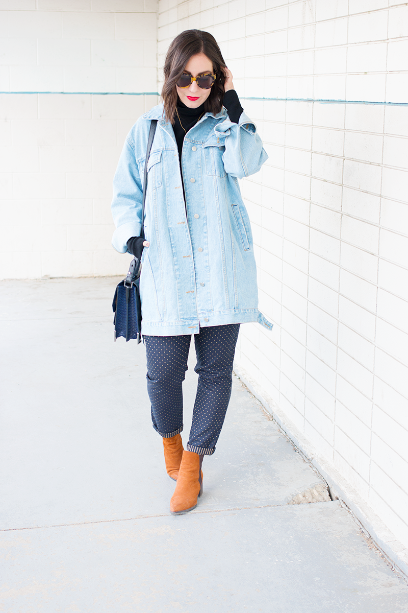 How to style an oversized denim jacket