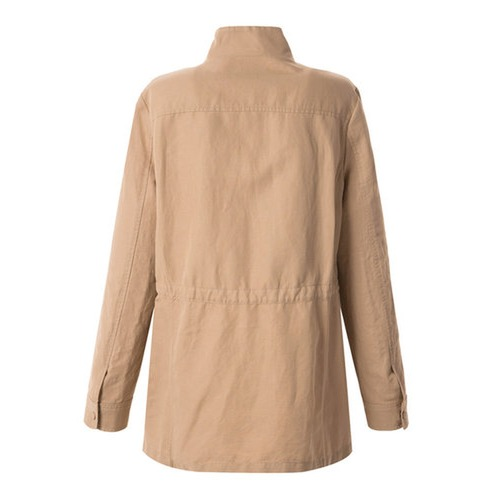 Beige Linen Safari Jumper Coat