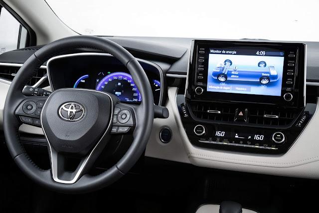 Novo Toyota Corolla Híbrido 2020 - interior
