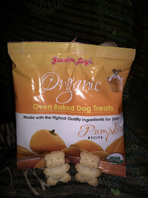 Bear-shaped dog biscuits