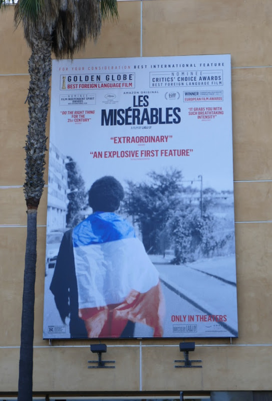 Les Misérables Golden Globe nominee billboard