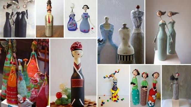 Πως θα φτιάξετε Κούκλες - Φιγούρες από Μπουκάλια