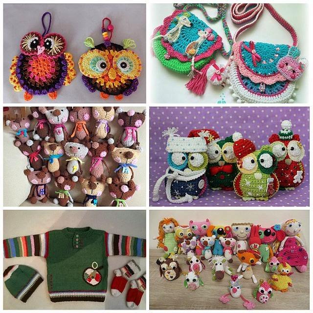 Projects based on VendulkaM crochet patterns