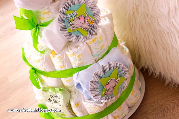 #Diapercake #copicmarker #papermedallions #LawnFawn #MFT #stamps #HelloBlueBird #puffystarstackables #ElephantFriendsStamp #DIY #babyDIYseris #PuddlePlay