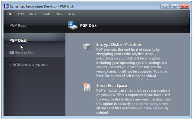 Screenshot Symantec Encryption Desktop Professional 10.4.2 MP3 Full Version