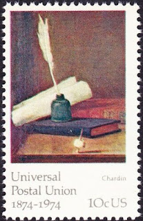 US - 1974 - 10 Cents Inkwell Painting By Chardin UPU Anniversary Issue