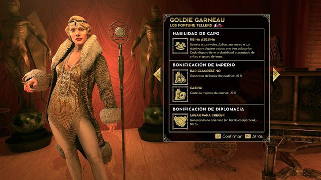 La jefa Goldie Garneau