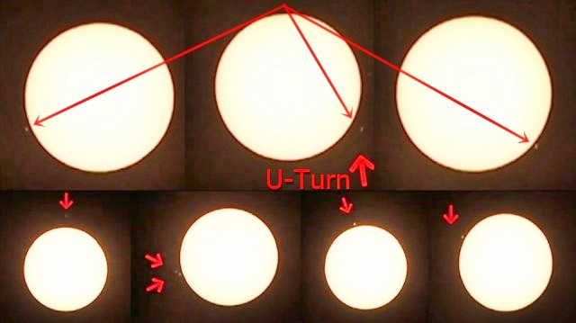 Stunning footage of 11 UFOs moving around the Sun, 1 UFO even makes a U-turn!  Ufos-near-sun