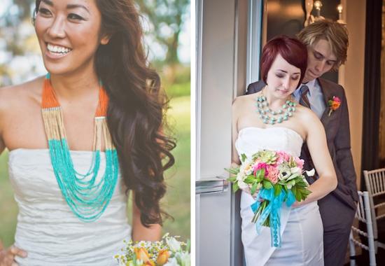 Bigiotteria per la sposa, statement necklace, collana per la sposa etnici, gioielli per la sposa colorati