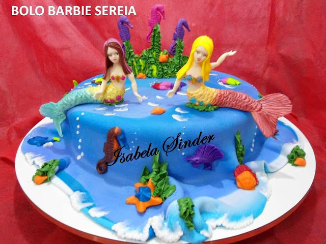Bolos decorados Barbie Sereia