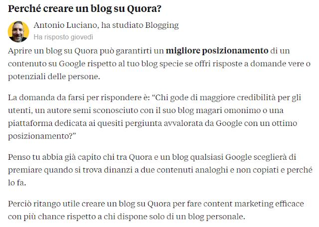 quora content marketing blog blogging