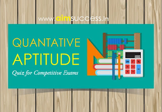 Quantitative Aptitude MCQ for SBI Clerk 2018 : 30 March