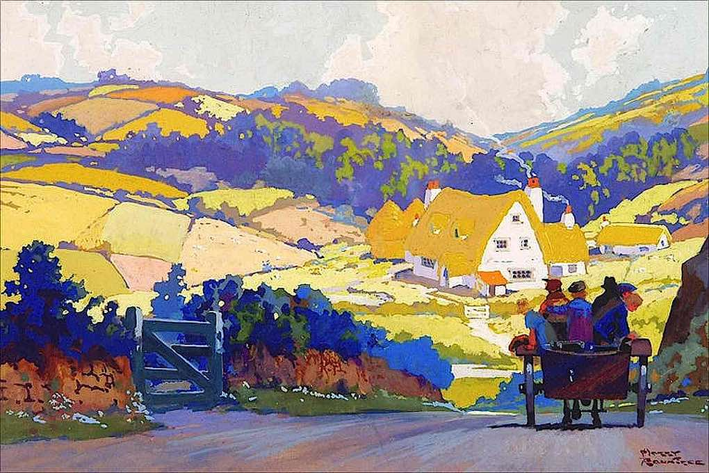 a Harry Rountree illustration, country road