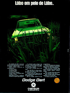propaganda Dodge Dart - Chrysler - 1970; os anos 70; brazilian cars in the 70s; Oswaldo Hernandez; década de 70;