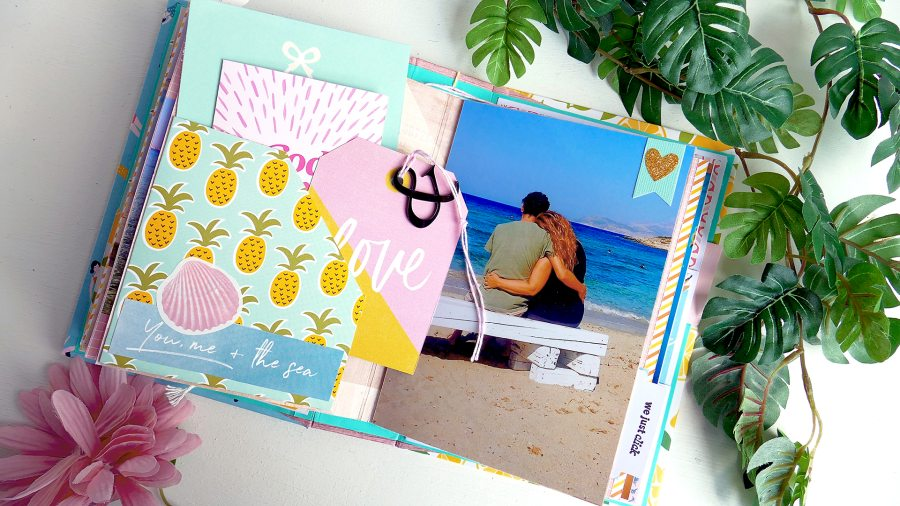 Scrapbooking: Mini album con Sole shaker