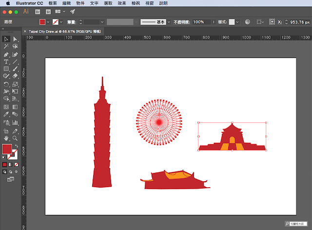 Adobe Photoshop 串聯 AI 向量素材 - 素材