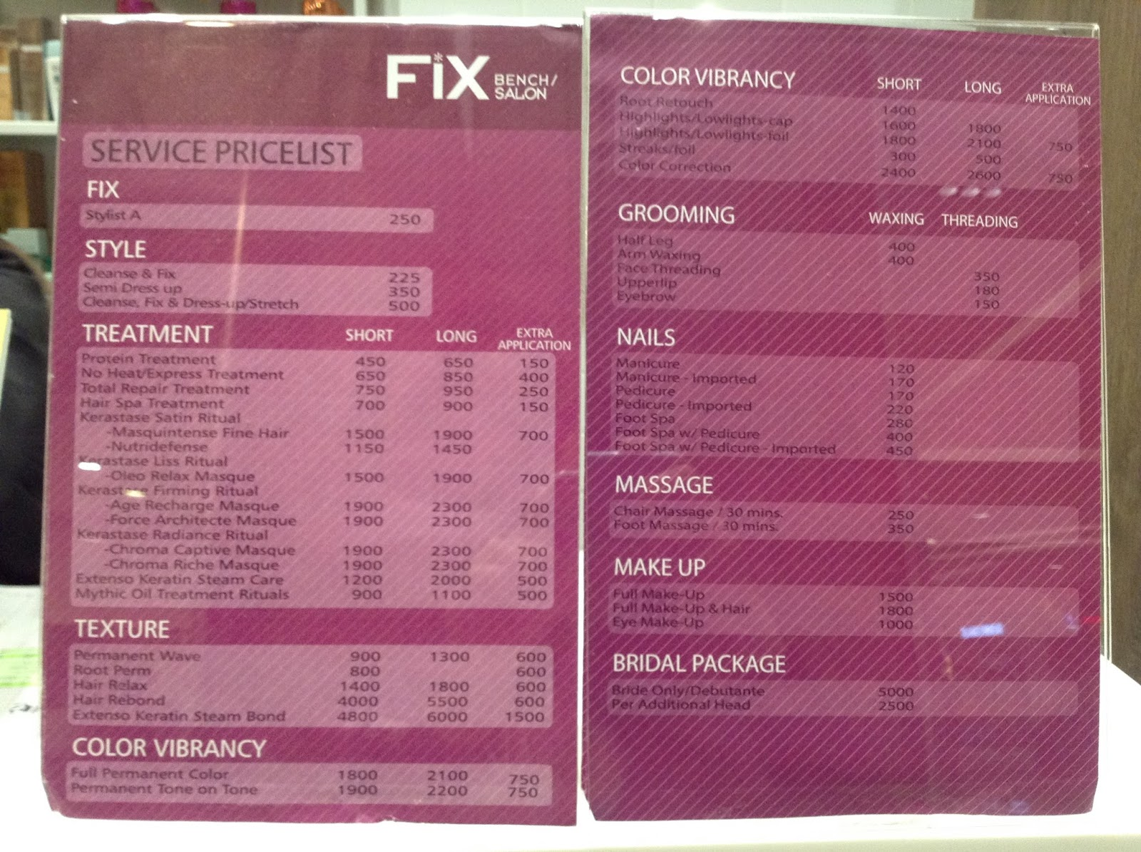 FIX: Bench Salon at SM San Lazaro Branch - The Foodinista