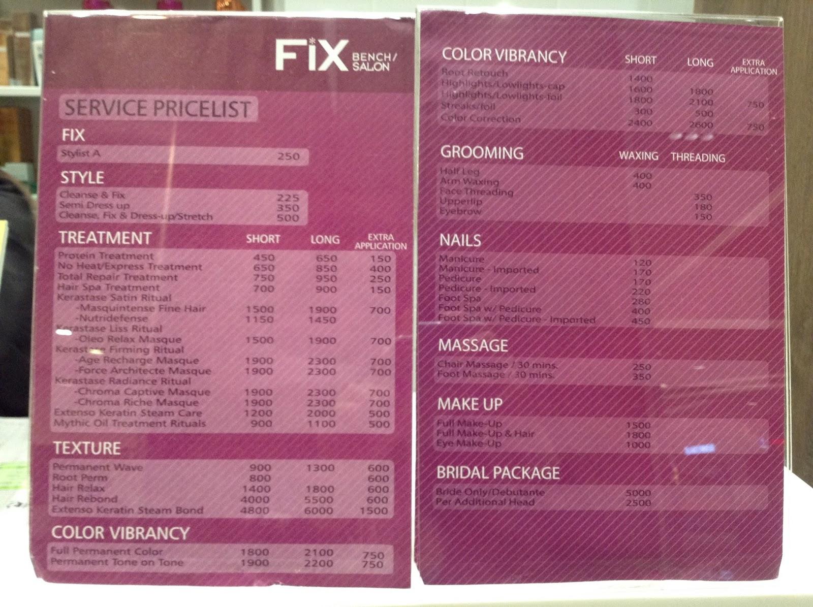 FIX  Bench  Salon at SM San Lazaro Branch The Foodinista