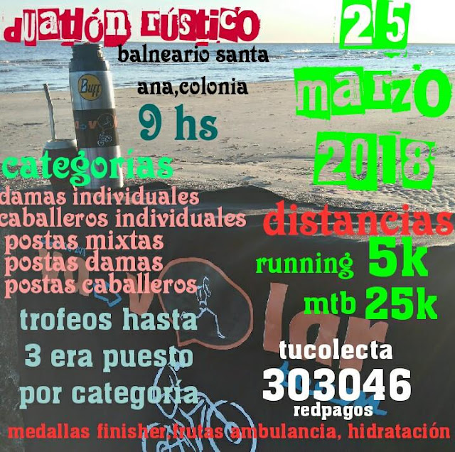 Duatlón rústico de Santa Ana (Colonia, 25/mar/2018)