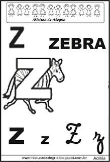 Alfabeto ilustrado letra Z