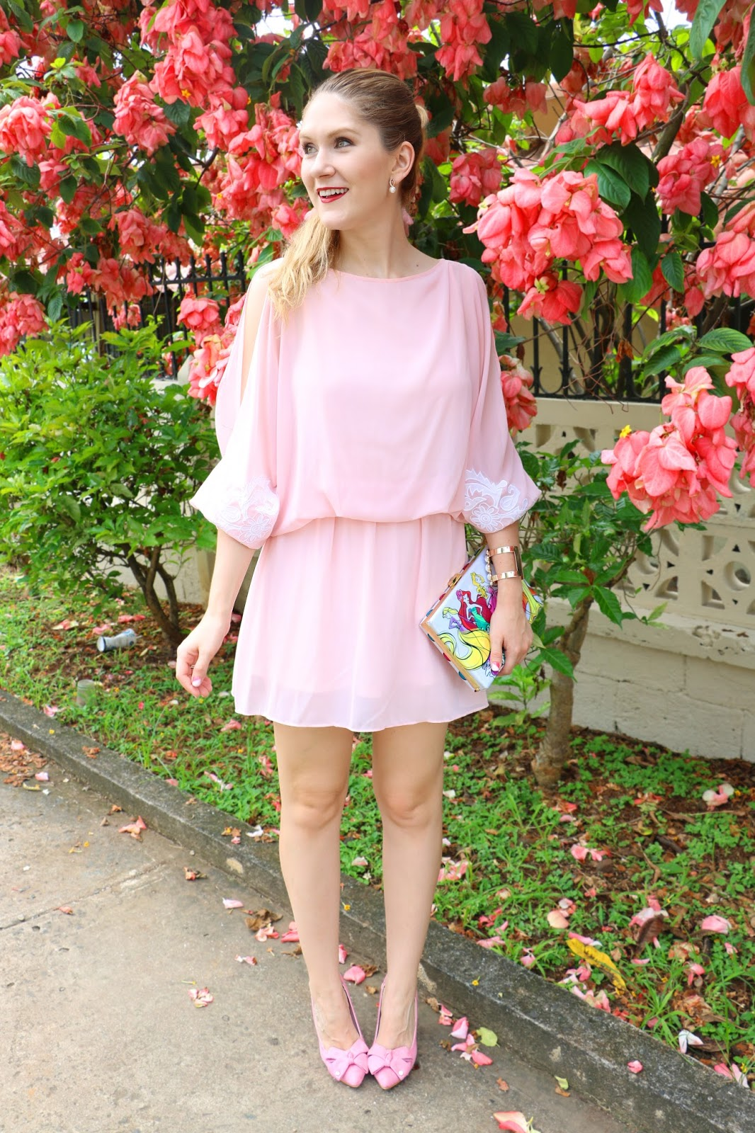 Pretty pink outfit for Spring