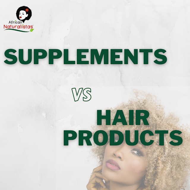 Hair supplements versus products