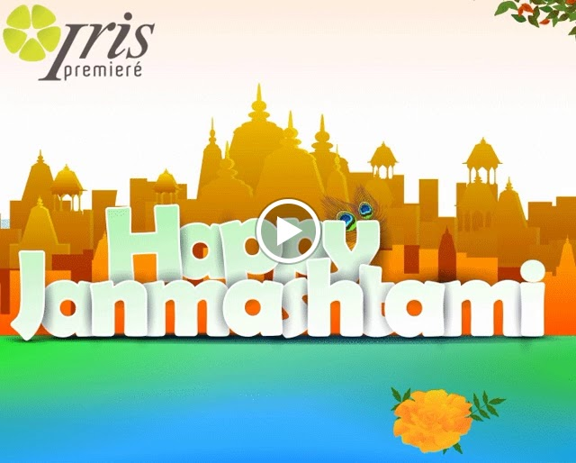Happy Janmashtami Wishes Gif for WhatsApp & Facebook
