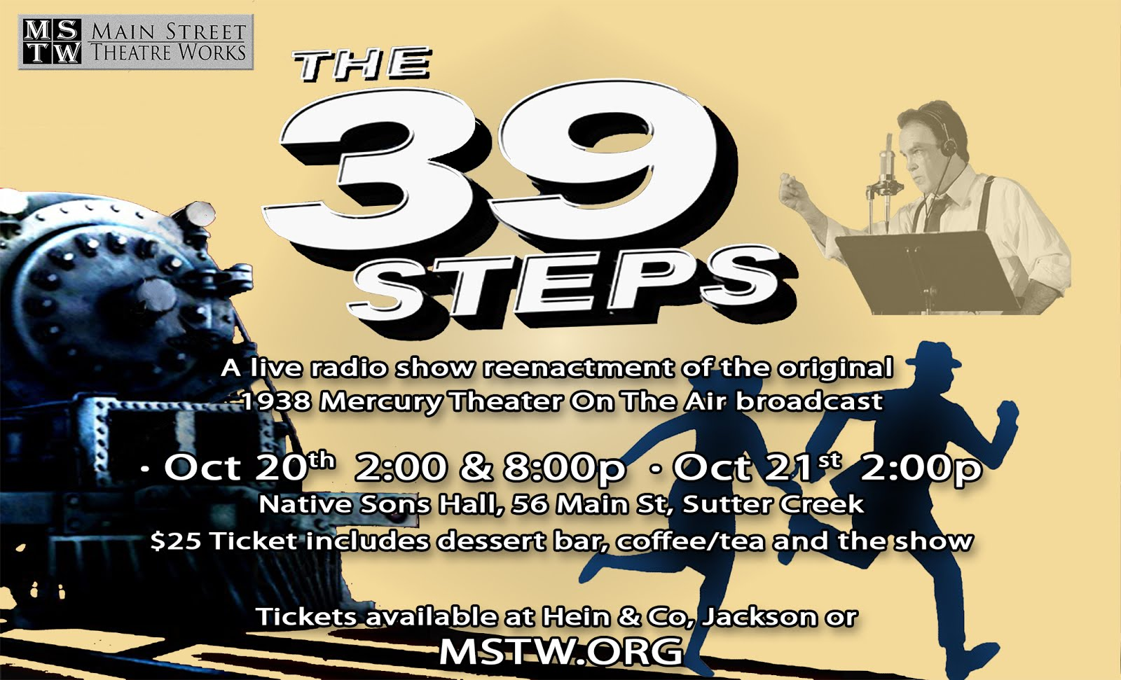 MSTW: The 39 Steps - Oct 20-21