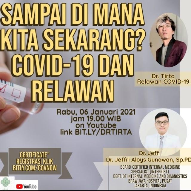 Penasaran Relawan COVID-19 sehari-hari ngapain aja??     Nikmati diskusi dan edukasinya