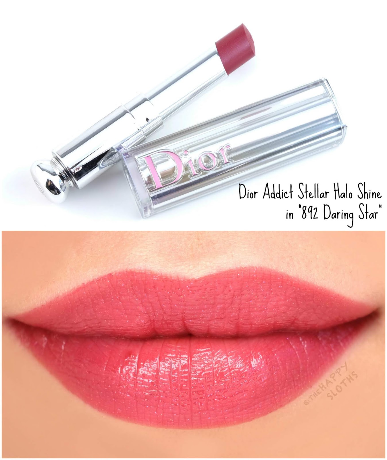 "Dior | Dior Addict Stellar Halo Shine Lipstick in ""892 Daring Star"": Review and Swatches"