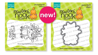 Mistle Toad Stamp Set and Die Set by Newton's Nook Designs #newtonsnook