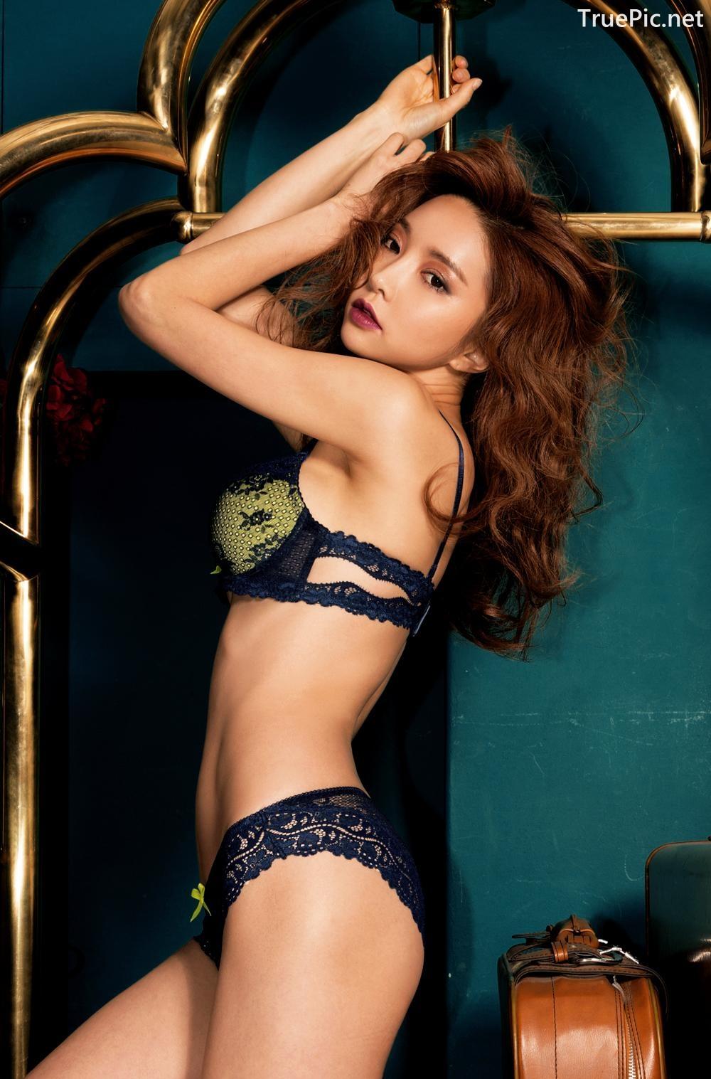 Image Korean Fashion Model - Park Soo Yeon - BVB Black Lace Lingerie - TruePic.net - Picture-2