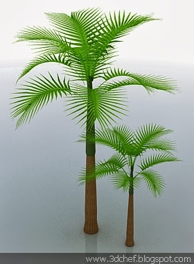 free 3d model palm tree
