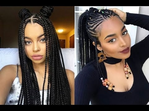 Latest Braided Hairstyles Get Ideas Of Black Braided Hairstyles Od9jastyles