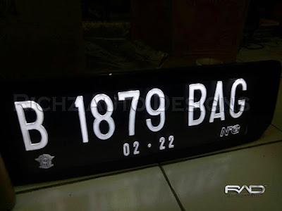 plat nomor mobil civic 2016