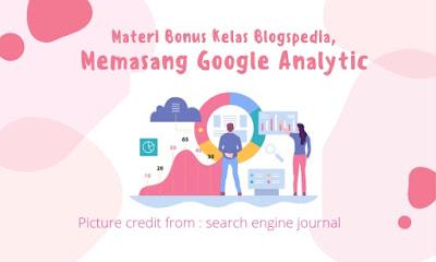 Memasang google analytic pada web
