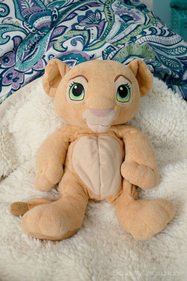 Nala The Lion King Plush Doll on a bed