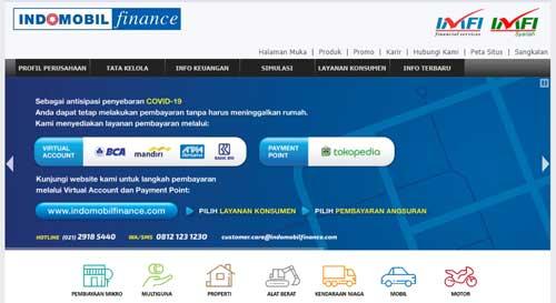 halaman resmi indomobil finance