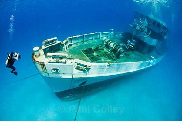 USS Kittiwake navire échoué dans les îles Caimans