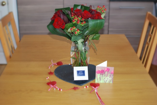Prestige-Flowers-For-Valentines-day-A-Review-bouquet-on-a-pine-table