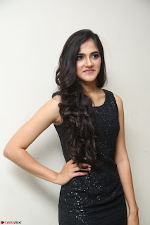 Simran Chowdary Model in Beautiful Black Dress at FBB Miss India 2017 finalists at Telangana auditions (16).JPG