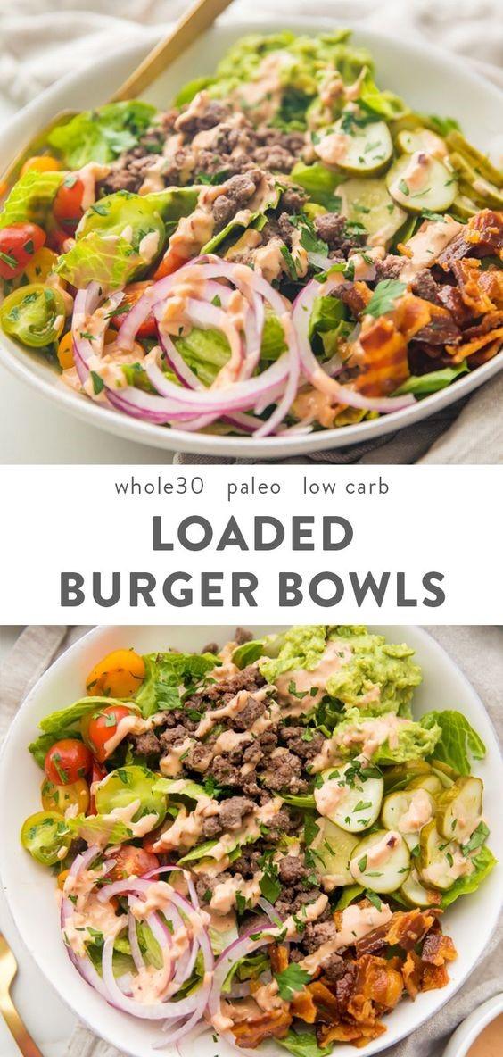 Burger Bowls (Whole30, Paleo, Low Carb) | Paleo recipe, paleo recipes, paleo recipe dinner, paleo recipe chicken,paleo recipe easy, paleo recipe for bread,paleo recipe ground beef, paleo recipe with ground beef, paleo recipe dessert, paleo recipe breakfast, paleo recipe slow cooker,paleo recipe ground turkey, paleo recipe shrimp, paleo recipe for salmon,paleo recipes vegetarian, paleo vegan recipe, paleo veggie recipe, paleo recipe chicken thighs. #Paleo #Paleorecipes #Whole30 #Lowcarb