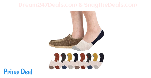 8 Pack No Show Socks for Men and Women 40% OFF